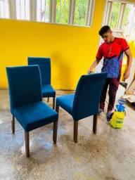 Lavagem a seco higienização de suas cadeiras