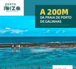 SIM| Flat com 33m², no coração de Porto de Galinhas a 200m das piscinas naturais