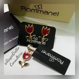 Brinco + Pingente Florzinha Rommanel