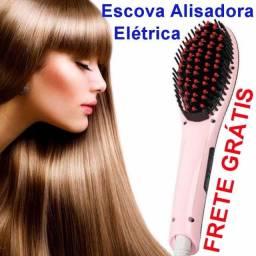 Escova Alisadora Chapinha El¨¦trica 230¡ãc Magic Hair Lcd