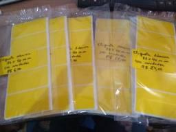 Etiqueta Adesiva amarela