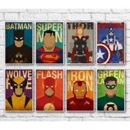 Placas Decorativas de super Heróis