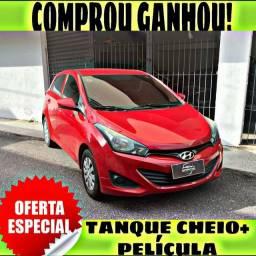 TANQUE CHEIO SO NA EMPORIUM CAR!!! HYUNDAI HB20 1.0 ANO 2015 COM MIL DE ENTRADA
