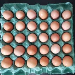 30 ovos vermelhos de galinha caipira: 20,00
