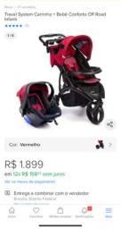 Carrinho off road infantil carrinho de bebê