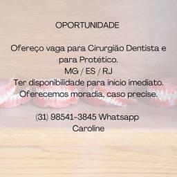 Vaga Dentista e Protético