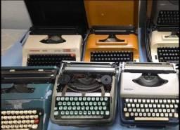 Lote com 10 maquinas de escrever antigas anos 80