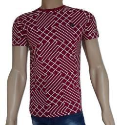 2 camisa masculina diferenciada no 100% algodão