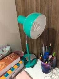 Luminária verde