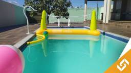 Casa com 3 suítes, mesa de sinuca, piscina e play groud, em Caldas Novas. Cód. 1013