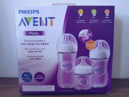 Kit Mamadeiras Pétala Anti-cólica: 125ml, 260ml e 330ml - Philips Avent