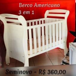 Berco Americano Seminovo - 3 em 1