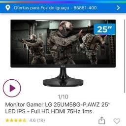 Monitor Novo LG 25 Ultrawide