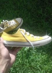 Converse All Star cano baixo Amarelo Original