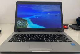 Notebook samsung 370E4K, core i3-5005U, 4GB de ram, ssd 120gb