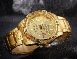 Relógio naviforce inoxidável masculino