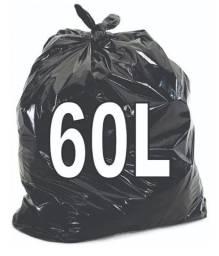 Saco de Lixo 60 Litros Preto C/ 100 Unidades