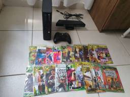 Xbox 360 Destravado semi novo 21 jogos