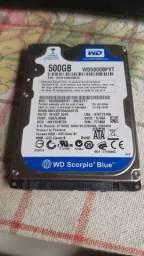 HD 500 GB WD para notebook, Serve para computadores tambem