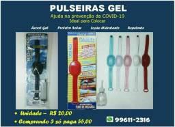 Pulseiras porta Álcool Gel
