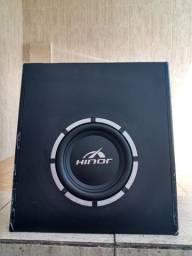 Caixa De Som Amplificada Automotiva Sub 8 Polegadas 200W Rms Hinor