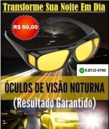 Óculos Visão Noturna Proteção UV400 Dirigir Dia e Noite, Uber, Pesca, Notebook Unissex