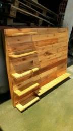 Fabrico painel de parede de pura madeira de pinus