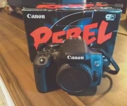 Câmera Canon T6i + Lente 18-55mm