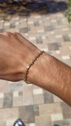 Kit moeda antiga (corrente e pulseira)