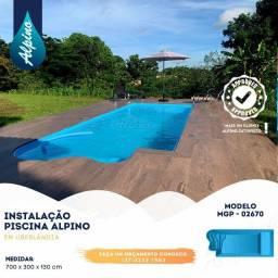 TA- Piscina de fibra 7 metros - Fábrica Alpino piscina Divinópolis