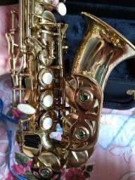 Título do anúncio: Sax Soprano Curvo - Eagle - Troca em notebook