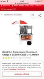 Vendo carrinho de churrasco grego, sem as rodas