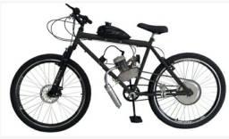 Bicicleta motorizada 80cc com freio à disco