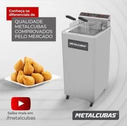 Fritadeira água e óleo elétrica Metalcubas - JM equipamentos