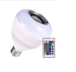 Lâmpada Led Rgb Musical Caixa De Som Bluetooth Celular Controle Remoto