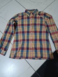 Camisa feminina xadrez tamanho g corte fit