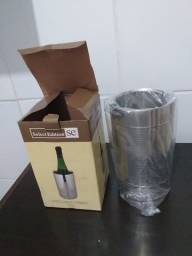 Porta garrafa térmica  de alumínio para vinho