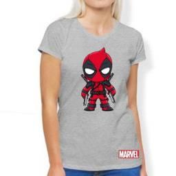 Título do anúncio: Camiseta Baby Look Deadpool Baby Marvel