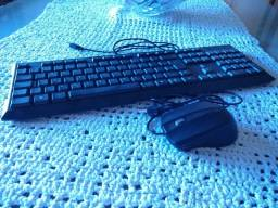 Teclado e mouse (cabo USB)