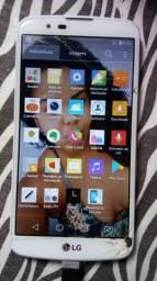 Troca k10 em outro celular, tela trincada e problema onde poe o carregador