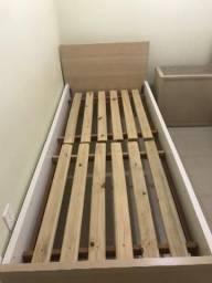 2 camas de solteiro com cabeceira sem colchão