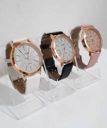 Relógio feminino yolako pulseira de couro