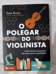 """Livro """"O polegar do violinista"""" em ótimo estado"""