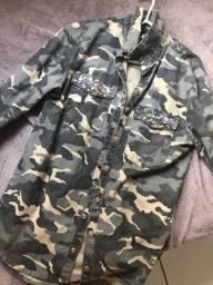 Jaqueta de jeans estilo militar LINDA