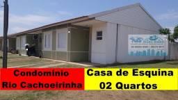 Casa de esquina com 02 dormitórios no Condomínio Rio Cachoerinha Jardim Imperial
