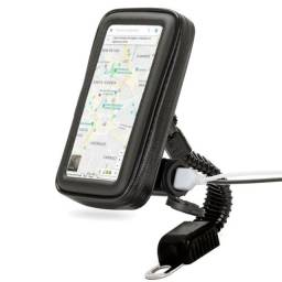 Suporte Case Celular Usb Moto Impermeável 360° À Prova D'água
