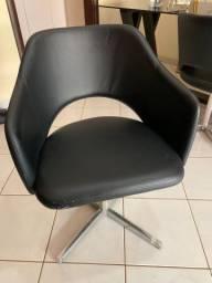 Cadeiras Giratórias Courino Preto