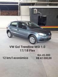 VW Gol Trendline MSI 1.0 17/18 Flex Km 45.000 12km/l