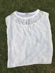 Blusa branca feminina tamanho G