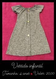 Vendo vestidinho infantil cinza